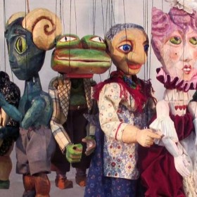 These puppets were created by participants at Puppets in Prague workshop 2013.