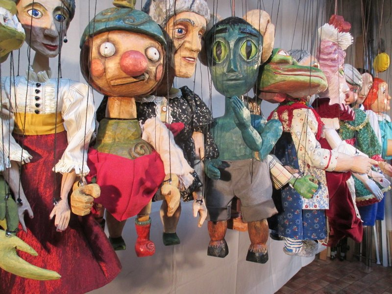 Puppets in Prague workshop 2013-participant puppets